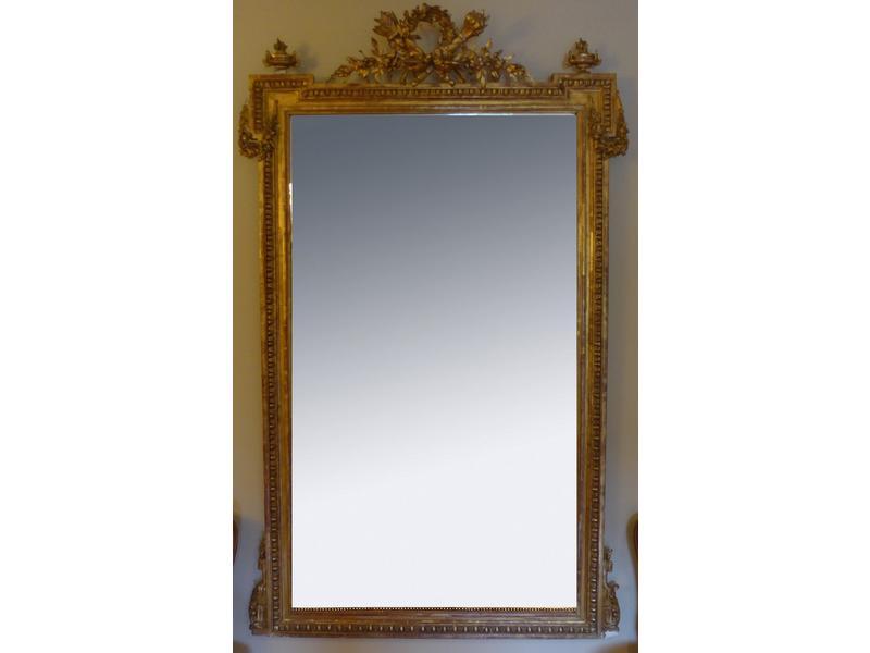 miroir de chemin e rectangulaire biseaut dans. Black Bedroom Furniture Sets. Home Design Ideas