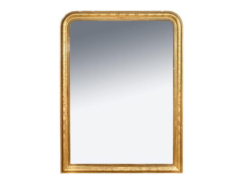 Important miroir de cheminee dans un cadre en for Ecrire comme dans un miroir