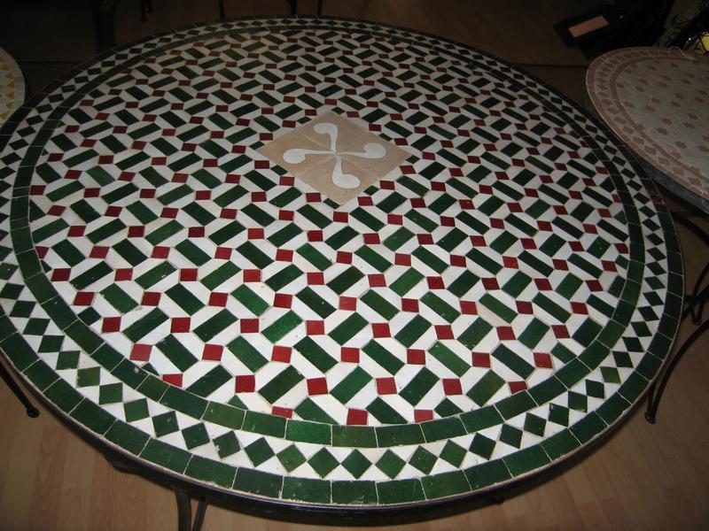 Table Ronde De Jardin En Fer Forg Plateau