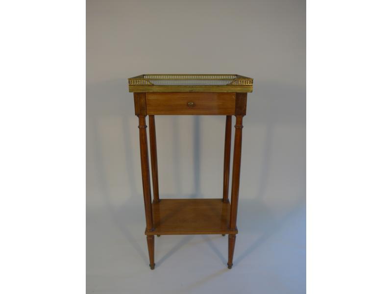 Petite table de chevet rectangulaire en acajou - Petite table de chevet ...