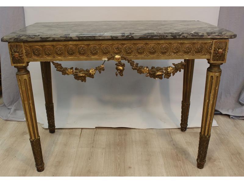 Table console en bois sculpt et dor la ceinture - Cote table vente en ligne ...