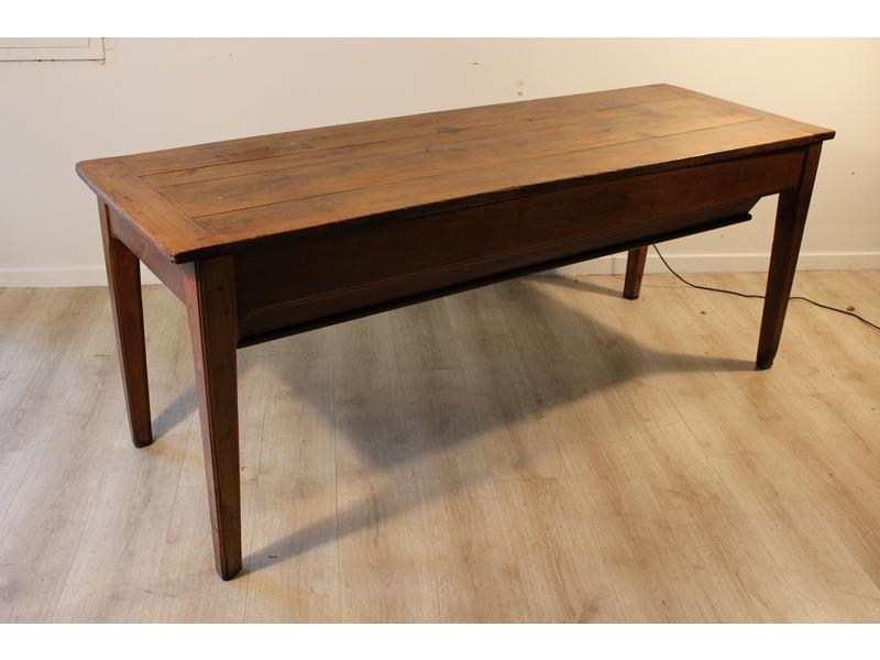 Grand petrin formant table en ch ne naturel plateau - Cote table vente en ligne ...