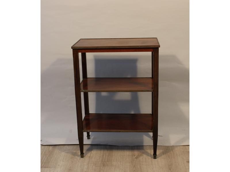 petite table desserte rectangulaire en acajou. Black Bedroom Furniture Sets. Home Design Ideas
