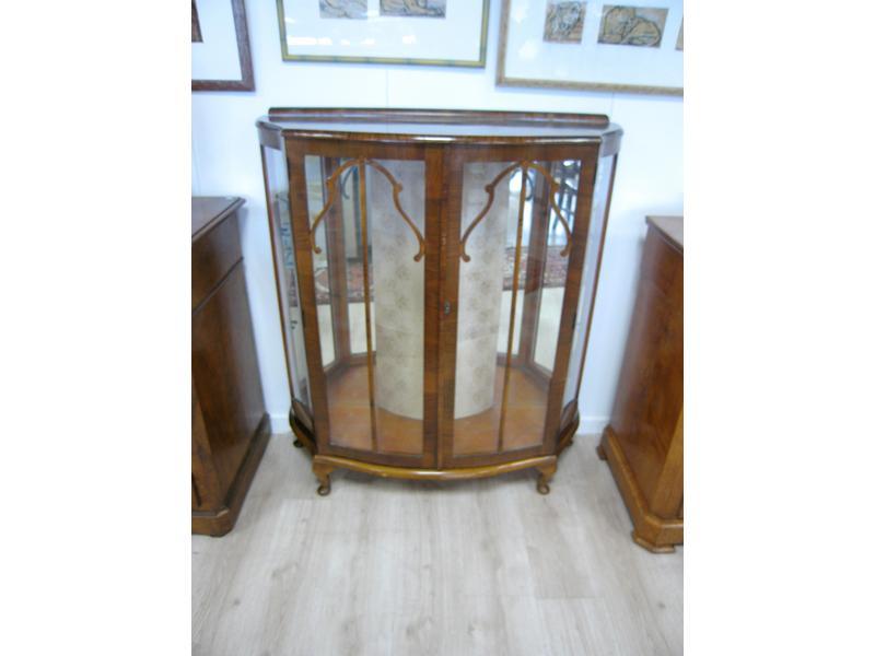 meuble vitrine en bois de placage de palissandre. Black Bedroom Furniture Sets. Home Design Ideas