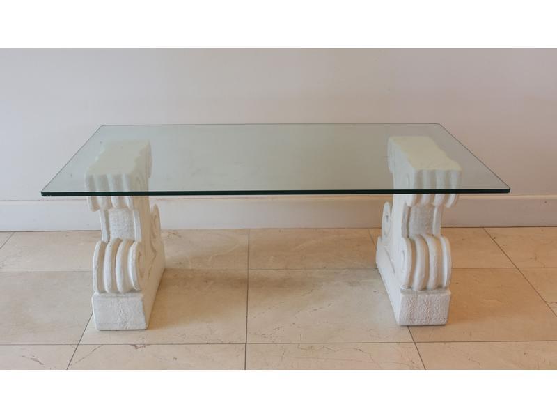 Table Et En À Console Basse Plateau Piètement Verre WEeDb29YHI