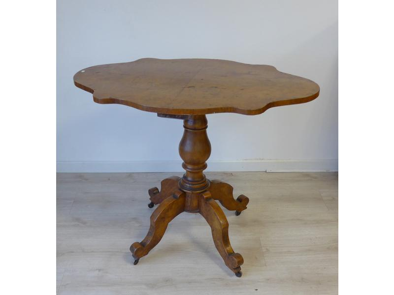 Table gueridon violon e en noyer moulur f t - Cote table vente en ligne ...