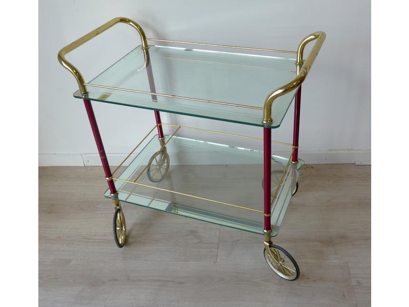 table desserte roulettes plateaux en verre. Black Bedroom Furniture Sets. Home Design Ideas