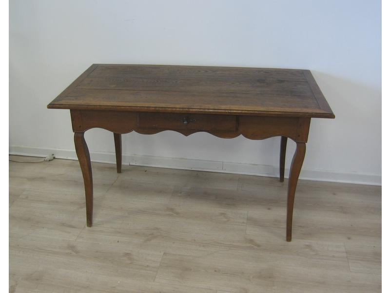 Table bureau en ch ne naturel moulur ouvrant - Cote table vente en ligne ...