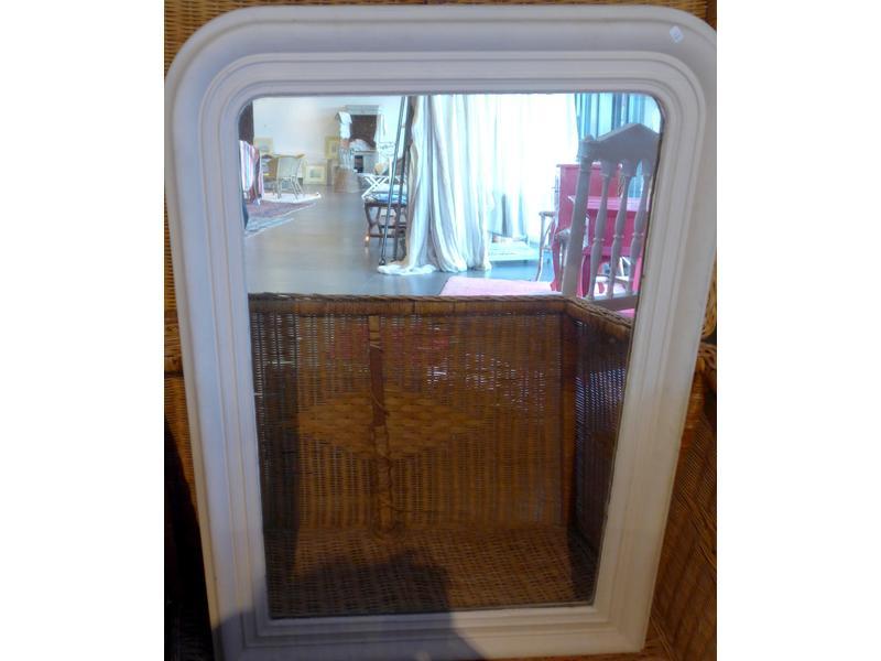 Vente sur place du mobilier de l 39 hotel du chateau clair de - Grand miroir blanc laque ...