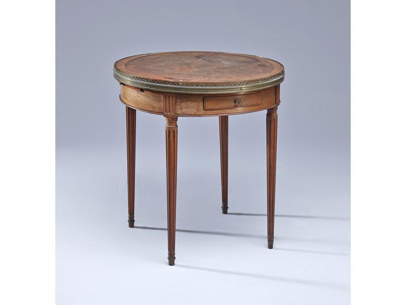 Table bouillotte en acajou et placage d 39 acajou - Cote table vente en ligne ...