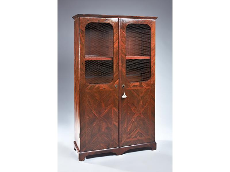 armoire bibliotheque en placage de palissandre. Black Bedroom Furniture Sets. Home Design Ideas