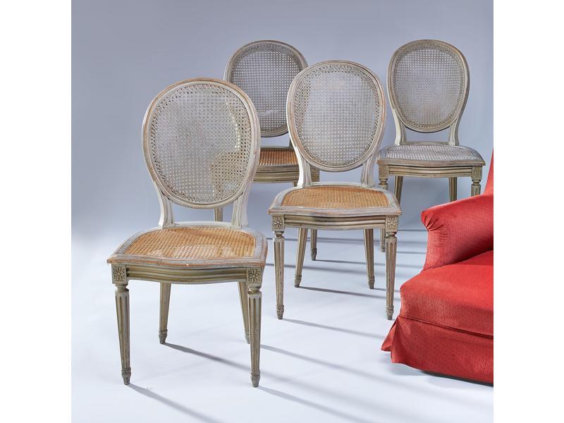 quatre chaises dossier m daillon cabriolet cann es. Black Bedroom Furniture Sets. Home Design Ideas