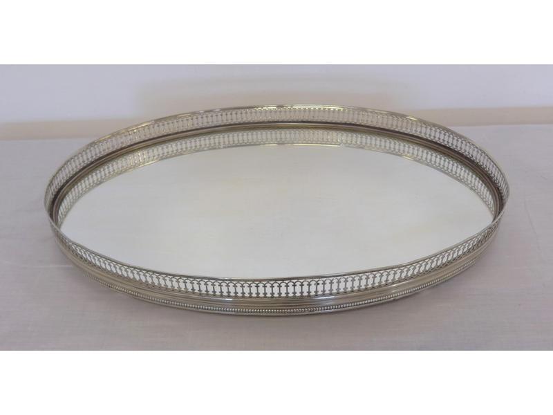 Centre de table ovale fond de miroir galerie for Fond miroir