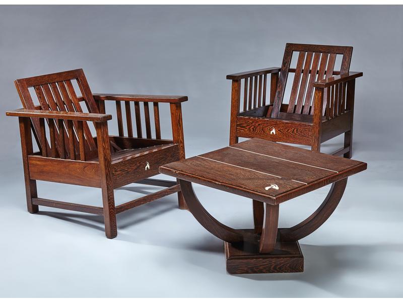 Paire de fauteuils dossier basculant et table - Cote table vente en ligne ...
