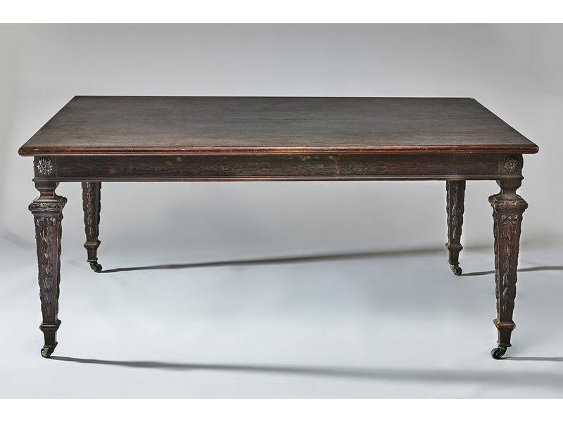 table de salle a manger rectangulaire en ch ne. Black Bedroom Furniture Sets. Home Design Ideas