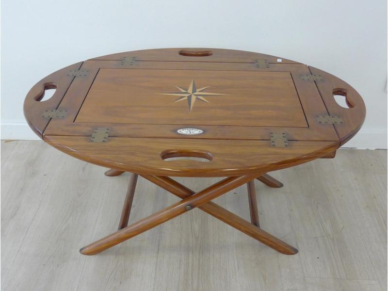 Basse Table Acajou Ovale En Placage D'acajou Et kuZTXiOP
